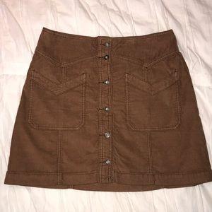 Free People corduroy tan skirt